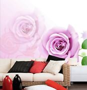 3d Pink Rose Leaves Zhua1923 Wallpaper Wall Murals Removable Self-adhesive Zoe