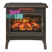 Duraflame 3d Infrared Electric Fireplace Portable Indoor Space Heater Bronze New
