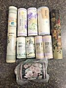 Lot Of 10 Rolls Of Wallpaper Border For Crafts Including Laura Ashley Home