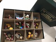 Vintage Grolier Disney Christmas Ornaments - 1st Edition 12 With Collector's Box