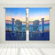 3d Blackout Curtains Thermal Soundproof Insulated Bedroom 52x95seaside Seat