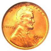 1944-s Lincoln Wheat Cent Penny 1c - Certified Anacs Ms68 Rd - Rare In Ms68
