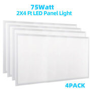 Led Panel Troffer Light 75w 2x4ft Used For Commercial Uses Ceiling Mount Fixture