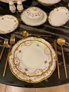 Vintage Reichenbach White Porcelain With 22k Gold Roses Rare China Set