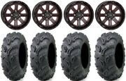 System 3 St-4 14 Wheels Red 27 Zilla Tires Yamaha Grizzly Rhino
