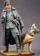 Tin Toy Soldier 90 Mm.superb Elite Painting In St.petersburg.officer With Dog
