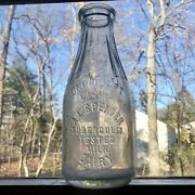 Qt Milk Bottle A L Spencer Dairy Westernport Md Maryland Near Cumberland Rare