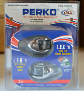 Perko 0602dp1chr Pair Red And Green Led Sidelight Classic Marine Boat Light