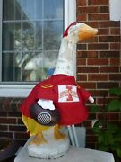 Goose Clothes 4 Lawn Geese Iowa State Football Lawn Cement Plastic Comb Ship