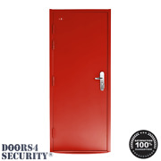 Steel Security Door | W/ Multi Point Lock Ral3020 Traffic Red🆓 Delivery