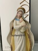 Lenox Madonna With Child Figurine Mother Mary And Baby Jesus Christmas Nativity