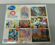 Mega Puzzles 8 Puzzle Collection Disney Princess Mickey Cars Phineas Winnie Pooh