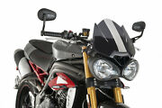 Puig Screen Naked Sport Compatible For Triumph Speed Triple 1050 2020 Dark Smoke