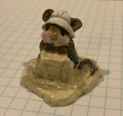 Retired Wee Forest Folk 1982 M-76 Beach Mousey Signed Ap