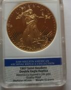 1907 / Proof / Saint Gaudens Double Eagle / 24 K Layered Gold 20 Coin