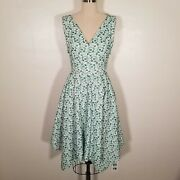 Sz 00 Nwt Bebe Green And White Eyelet Lace Cutout Dress Spring Easter Summer B12