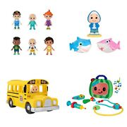 Cocomelon Musical Check Up Case Friends And Family Musical Bus And Bath Squirters