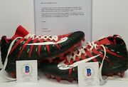 Fred Warner Signed San Francisco 49ers 2019 Game Used Cleatsshoes. Beckett