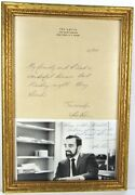 Rare Signed Ira Levin Letter Head And Photo Rosemary's Baby Novelist Playwright