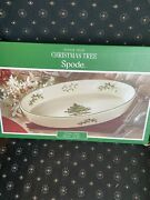Spode Christmas Tree Oven To Table Oval Casserole Baking Dish Euc