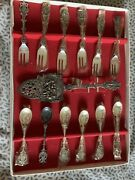 Vintage Holland 90 Silver Made In Holland Collector Spoons And Forks 13pc