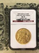 2006 50 American Gold Buffalo First Strikes Ms70 Ngc First Strikes Gold Coin