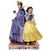 Jim Shore Disney Traditions Snow White And Evil Queen With Apple - Ships Globally