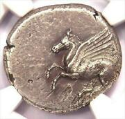 Ancient Greece Pegasus Ngc Cert Coin 8.34g Free Shipping Fr Jp W/tracking8256n