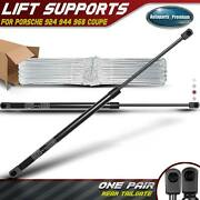 2x Rear Trunk Tailgate Lift Supports Struts For Porsche 924 944 968 77-95 Coupe