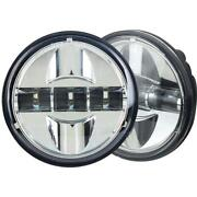 Eagle Lights Chrome 4.5 Motorcycle Hid Led Passing Lights Harley Generation Iii