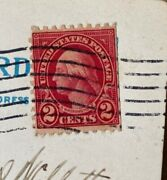 Rare 2 Cent George Washington Stamp Red Straight On One Side