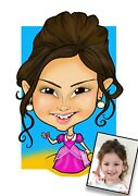Digital Caricature Excellent Likenesshand-drawn From Photo/professional Artist