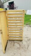 Stanley Vidmar 11 Drawer Industrial Tooling Cabinet W/swing Dr Cover 30x30x60