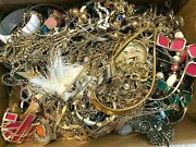 7 Pounds Huge Lot Jewelry Vintage Now Junk Craft Box Full Brooch Necklace More