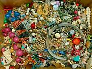 7 Lb Pounds Unsearched Huge Lot Jewelry Vintage Now Junk Art Craft Treasure Box