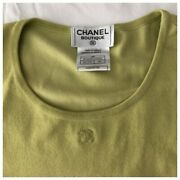✨authentic Vintage Spring 1998 Collection Cc Logo Knit Top Shirt Sweater