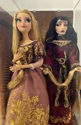 Disney Fairytale Designer Rapunzel And Mother Gothel Limited Edition Doll New