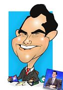 Digital Caricature Excellent Likenesshand-drawn From Photo/wedding Stationery