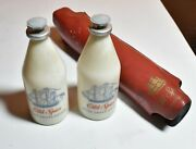 Vintage Old Spice After Shave Lotion-eue De Cologne 2 Of Them Collectible