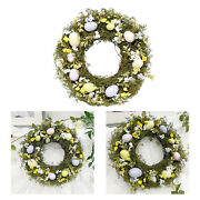 1pc Simulation Easter Egg Wreath 35cm Garland Wall Party Decor Sign Ornament