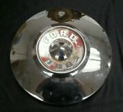 1957 1958 1959 Ford Hubcap Dogdish Wheelcover 10 1/2 Fomoco 57 58 59