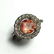 1.6ct Natural Strawberry Quartz With Hematite 925 Silver / 9ct 14k 18k Gold Ring