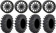 System 3 Sb-5 Grey 14 Wheels 30x9.5 Outback Max Tires Rzr Turbo S / Rs1