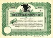 Smith Brothers, Incorporated Signed By Gradsons Of The Inventors - Stock Certifi