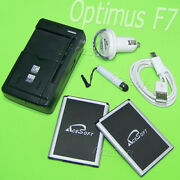 Acesoft 6in1 2x 3520mah Extra Battery Wall Charger Cable For Lg Optimus F7 Us780