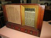 Philco 9 Band Tube Deco Radio Not Tombstone May Not Be Fully Functional Parts