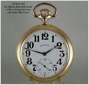 Gorgeous 1919 17j 16s 14k Gold Filled Illinois Bunn Swing Out Case Pocket Watch