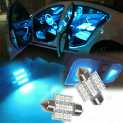 13x Blue 8000k Lights For Auto Car Interior Led Dome License Plate Lamp 12v New
