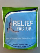 Relief Factor - 1 Bag/60 Packets - New/sealed - Exp 7/2022 - Free Shipping
