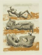 Henry Moore Signed And Numbered Lithograph